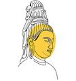 Face of buddha hand-drawn vector