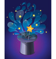 Magic hat with magic wand vector
