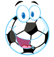 Soccer ball cartoon character vector