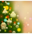 Christmas offer on bokeh effect background vector