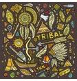 Tribal native set of symbols vector