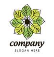Logo green and yellow petals vector