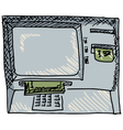 Cash machine vector