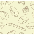 Background bread theme vector