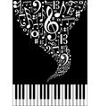 Music splash background vector