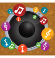 Music concept - dynamic with bright notes vector