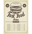 Retro hamburger vector