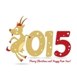 Happy new year and goat symbol of the new year vector