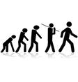 Human evolution vector