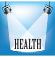 Spotlight health vector
