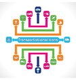 Set of transportational icons vector