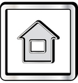 Convex house icon vector