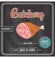 Poster meat chalkboard vector