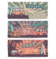 Vintage summer and travel banners vector