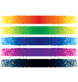 Abstract particle banners vector