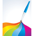 Artistic rainbow background - vector