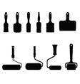 Rollers and brushes vector