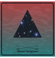 Abstract hipster background with triangle vector
