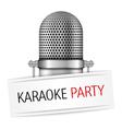Karaoke party banner vector