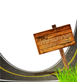 Asphalt road vector