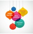 Christmas ornaments - colorful background vector