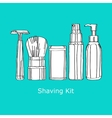 Shaving kit vector