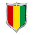 Guinea flag button vector