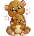Two bears vector