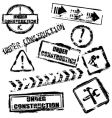 Under construction stamps vector