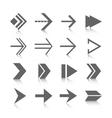 Arrow symbols icons set vector