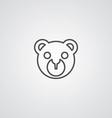 Bear toy outline symbol dark on white background vector