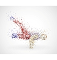 Paint splatter dancing man vector
