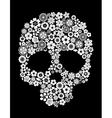 Human skull in floral style vector