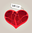 Valentines anatomy heart vector