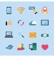 Social media icons set vector