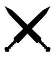 Crossed gladius swords icon vector