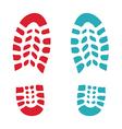 Shoes print vector