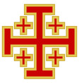 Jerusalem cross vector