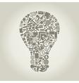 Office a bulb vector