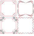 Vintage beautiful elegant frame set of elements vector