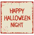 Happy halloween night vector