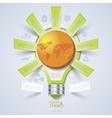 Modern design template with light bulb vector