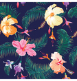 Tropical flower background vector