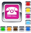 Free call square button vector