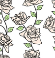 Beautiful seamless wallpaper with rose flowers vector