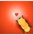 Love light bulb firefly vector