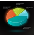 Pie chart infographics template vector