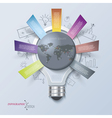 Abstract infographic with light bulb vector