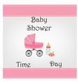 Postcard baby shower for baby girl vector
