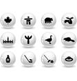 Web buttons canada symbols vector